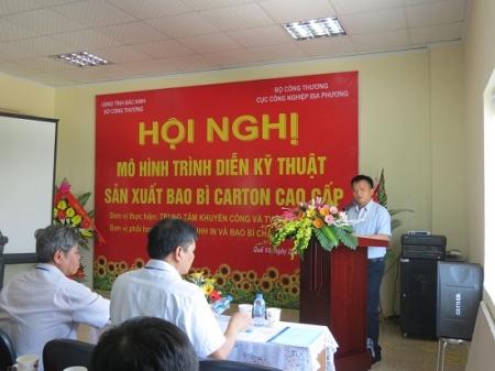 Hội nghị giới thiệu mô hình trình diễn kỹ thuật sản xuất bao bì carton cao cấp