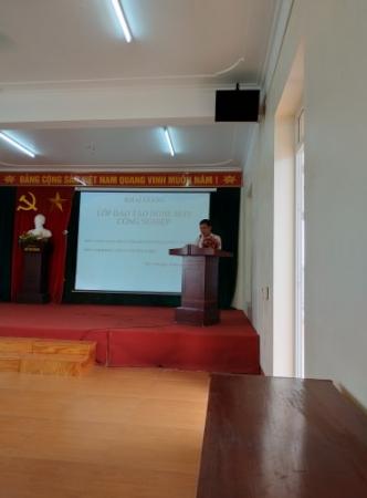Khai giảng lớp học nghề may công nghiệp tại công ty Đại Tân (TNHH)