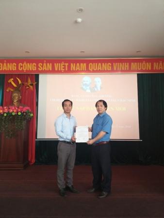 Lễ kết nạp đảng viên mới năm 2019