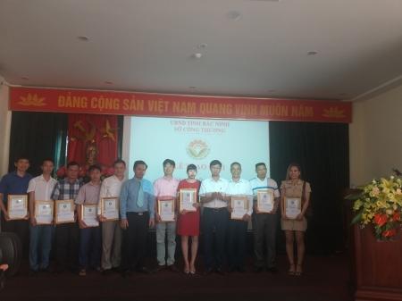 Lễ trao giải công nhận sản phẩm công nghiệp nông thôn tiêu biểu tỉnh Bắc Ninh năm 2020